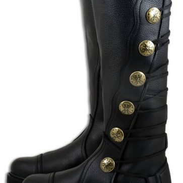 Premium Top Grain Leather Knee-High Boots - Black