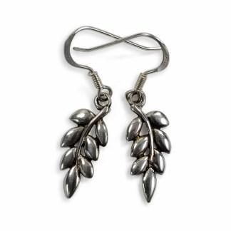 Ash Leaf Sterling Silver Earrings