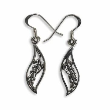 Laurel Leaf Sterling Silver Earrings