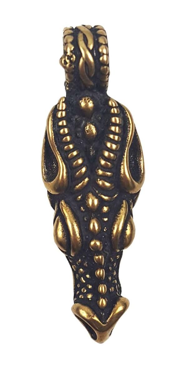 Bronze Dragon Head Pendant
