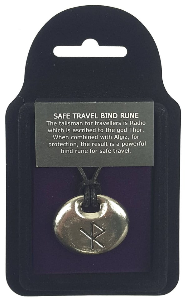 Safe Travel Bind Rune Pewter Pendant