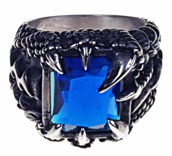 """At a time when silver is so expensive, you can't go wrong with this really great-looking dragon claw ring. Dragons are mythical creatures that have existed in cultures around the world for centuries. ... Dragons were so revered by the Celts that they were adopted as a symbol of the power of the chieftain. In fact, the Celtic name for chieftain is """"Pendragon"""". The Celtic dragon is also a symbol of the military."""