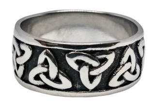 Two Tone Enameled Triskle Ring