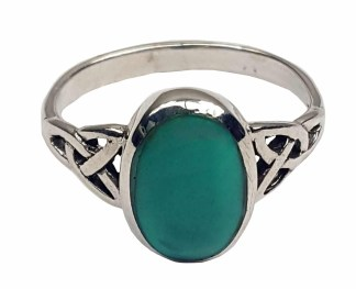 Turquoise Triquetra Ring
