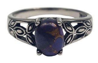 Purple Mohave Turquoise Triquetra Ring