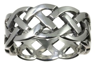 Stainless Steel Interlacing Knot Ring