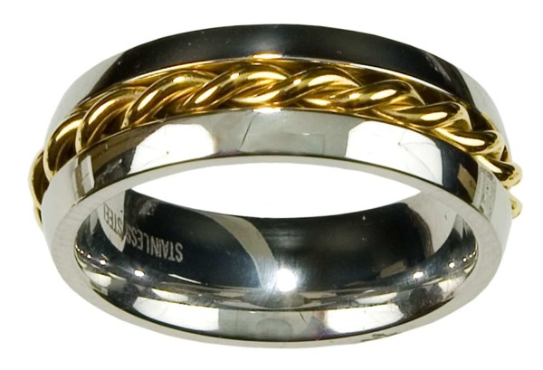 Two Tone Celtic Braided Ring