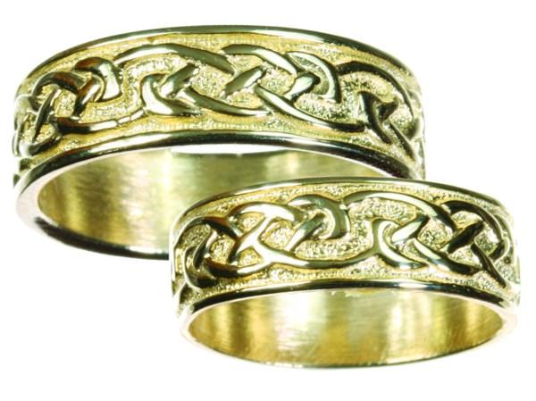 Womens 14K Gold Celtic Wedding Band