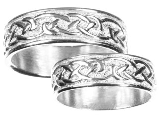 Womens Sterling Silver Celtic Wedding Band
