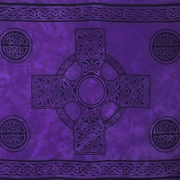 Celtic Sarong Purple Celtic Cross