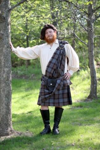 OUTLANDER Poly Viscose Ancient Kilt