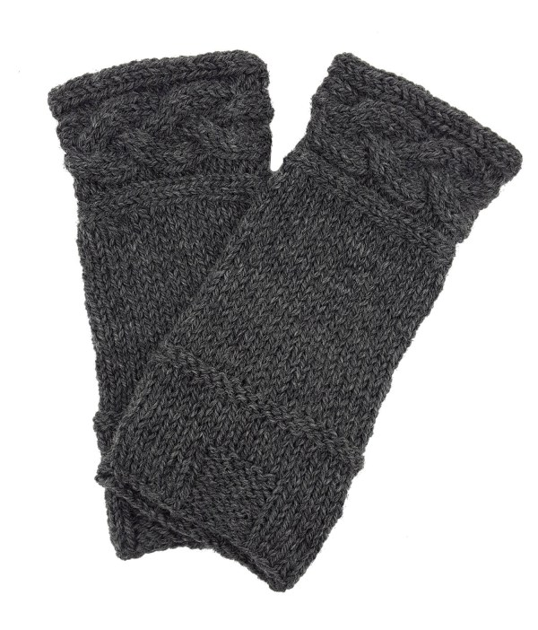 """These 100% wool wrist warmers are lovingly hand-knit in the USA. Inspired by the arm cuffs that Claire wears in OUTLANDER: The series. Wear it for your love of OUTLANDER or just for warmth and style. Measures approximately 4.5"""" x 9"""""""