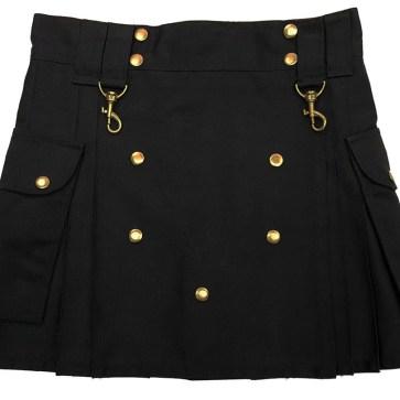 Black Wilderness Mini Skirt