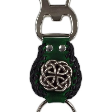 Celtic Knot Leather Key Fob and Bottle Opener