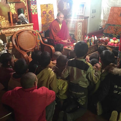 shedra Rinpoche with children aug2016 copy