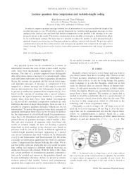Lossless quantum data compression and variable-length coding