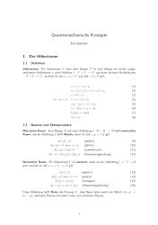 Quantenmechanische Konzepte