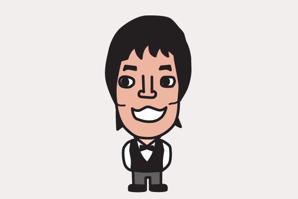 今田耕司の似顔絵画像