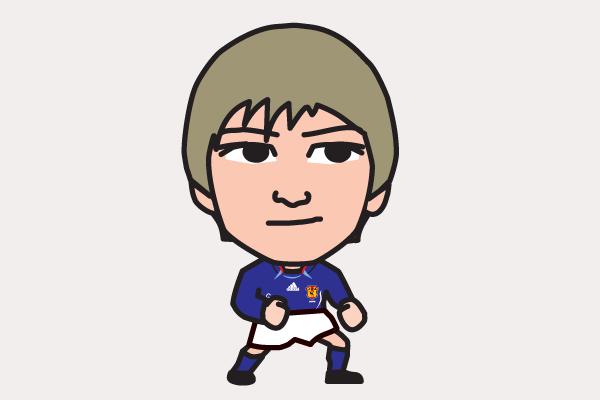 中田浩二の似顔絵画像