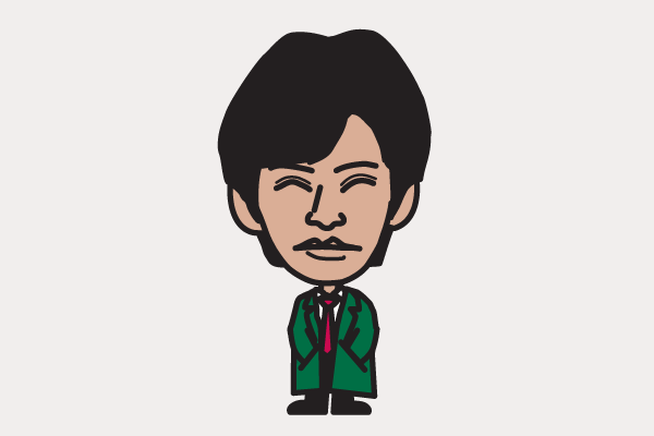 織田裕二の似顔絵画像