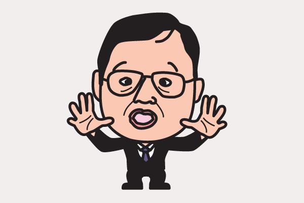 岡田武史の似顔絵画像