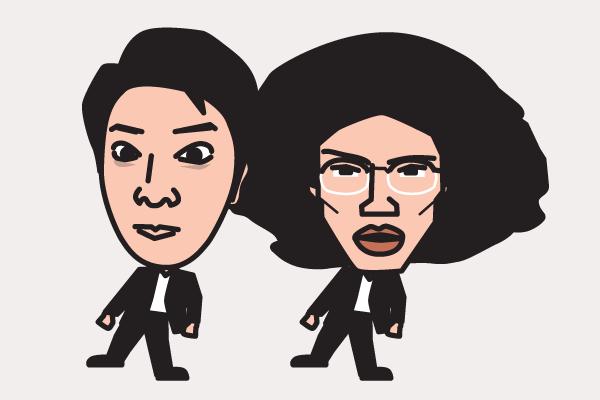 ラーメンズの似顔絵画像