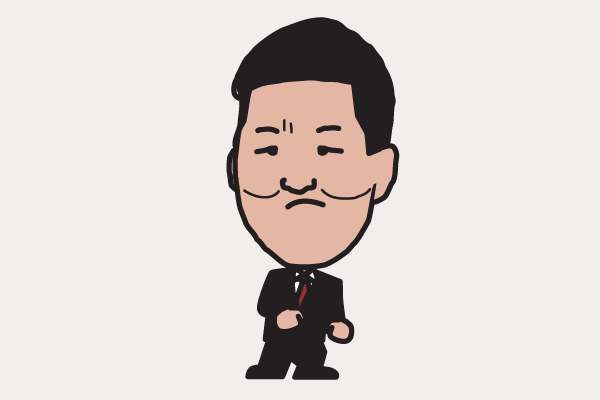 島田紳助の似顔絵画像