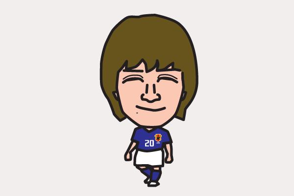 玉田圭司の似顔絵画像