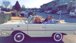 Kim and Lin Logan Real Estate Team in new Amphicar