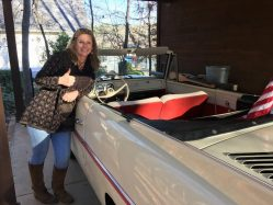 Kim Logan With Her New Amphicar