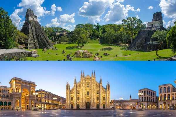 Tikal, Guatemala and Il Duomo di Milan