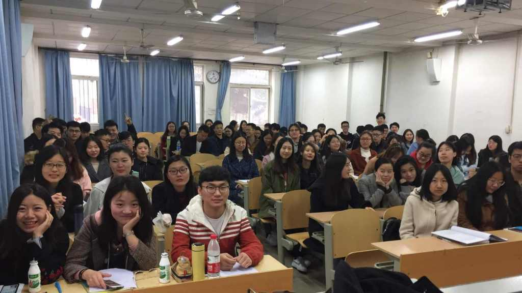 Students at Shandong University of Science and Technology