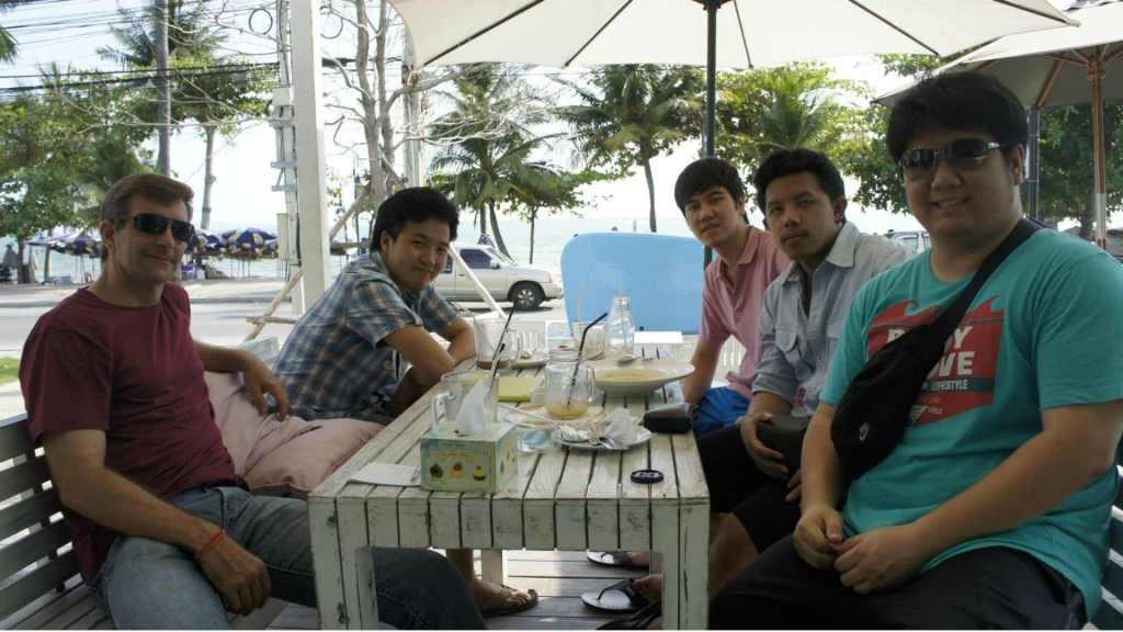 Pattaya lunch with Bangkok University students