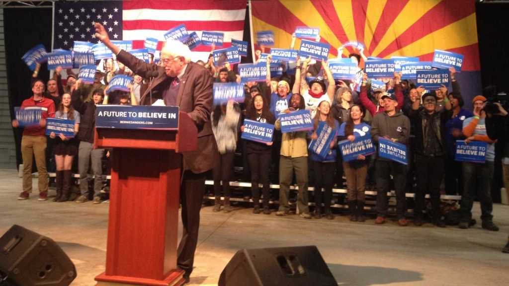 Bernie Sanders in Flagstaff, AZ Changing governments in America