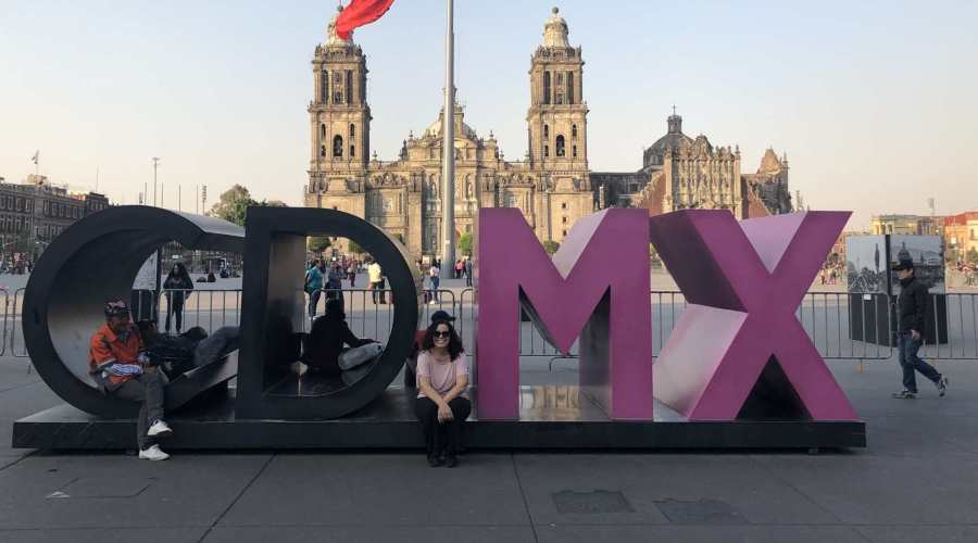 CDMX letters at the Zocalo, Mexico City, Mexico