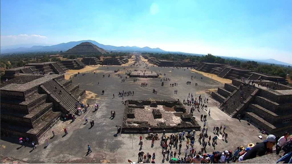 The Avenue Of The Dead at Teotihuacan, Mexico