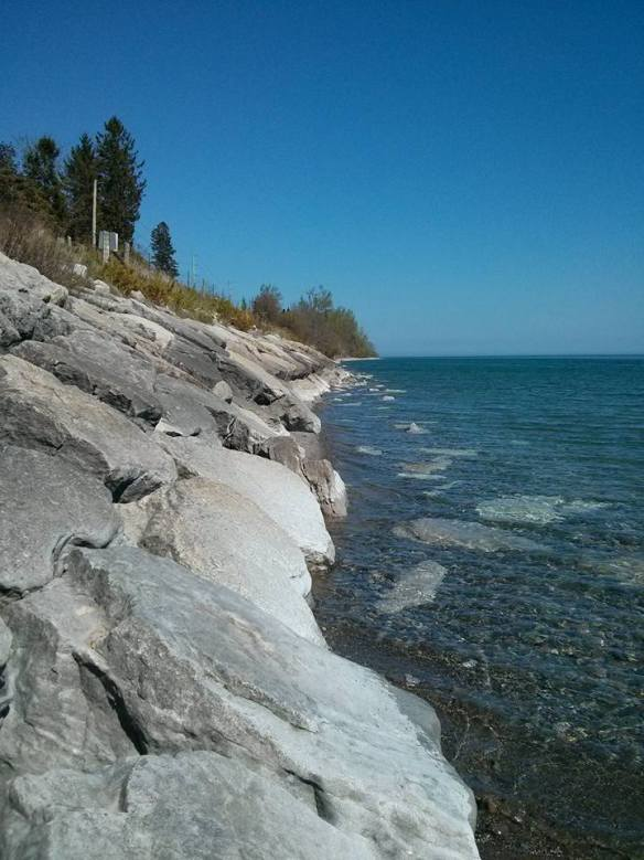 My friend, Mary, and I biked on the trail along Lake Ontario.