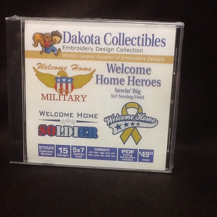 Machine Embroidery Cd Dakota Military Quilt Multi Format Cd Sewing