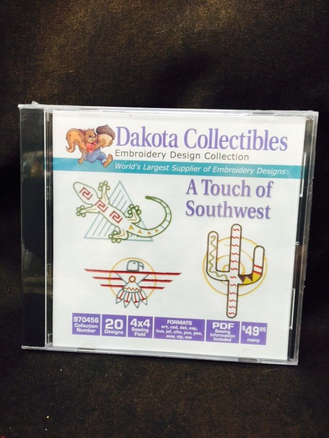 Machine Embroidery Designs Dakota Southwest Sewing Fabric Gift For