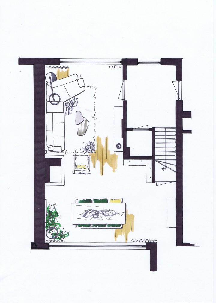 Interieurontwerp woonkamer in Oss