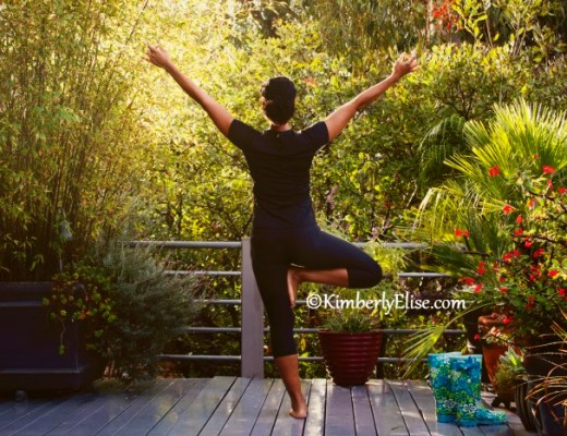 Kimberly Elise Holding The Tree Pose