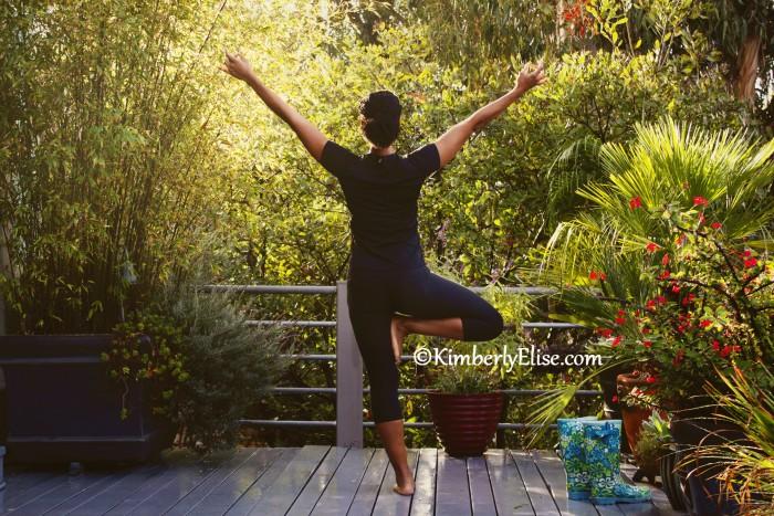 Kimberly Elise Holding The Tree Pose