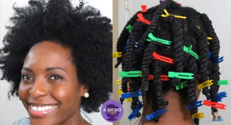 african-braid-styles-two-strand-twists-with-clips-stretching