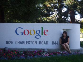 Kim Wallace at Google Headquarters in Mountain View, California