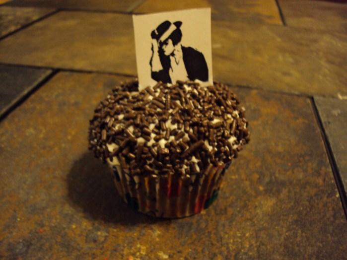michael jackson chocolate sprinkles cupcake