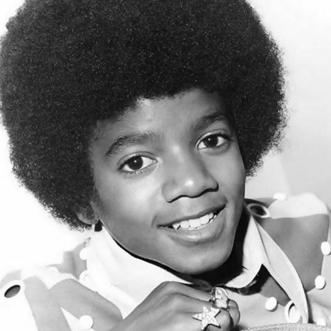 younger michael jackson afro