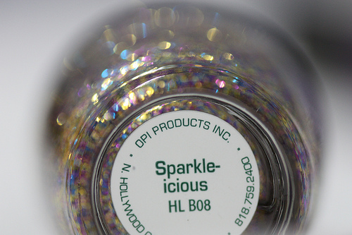 opi burlesque collection nail color label sparkle-icious
