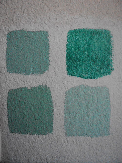 olympic paint and stain turquoise color blocks