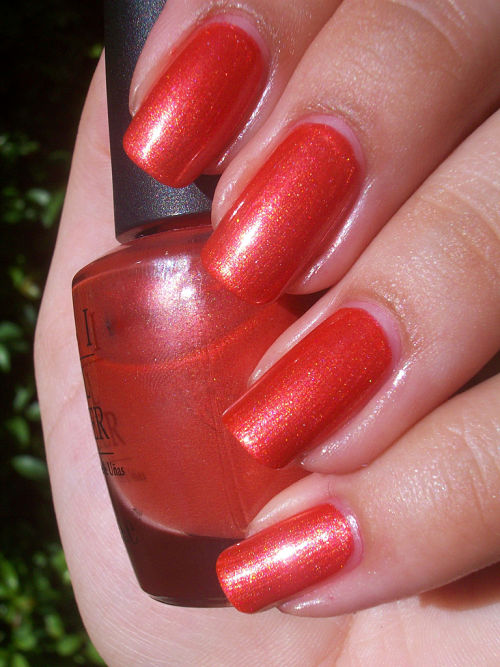 OPI conga-line coral south beach collection