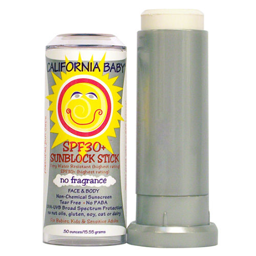 california baby no fragrance spf 30+ sunblock stick